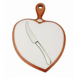 LOLA Deska do krojenia w kształcie seca + nożyk do sera
