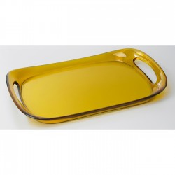 Glamour - taca 46 x 30 cm żółta