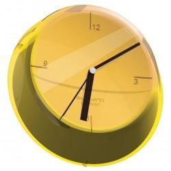 GLAMOUR zegar ścienny żółty