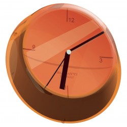 GLAMOUR zegar ścienny pomarańczowy