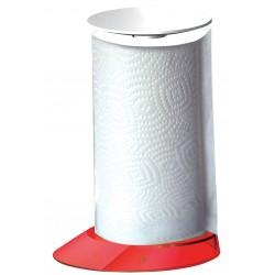 GLAMOUR stojak na ręczniki papierowe czerwone