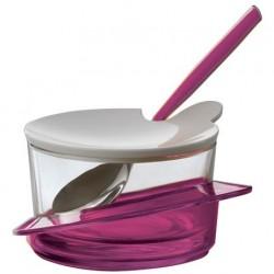 GLAMOUR cukiernica z łyżeczką fioletowa